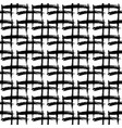 seamless pattern with hand drawn black and white vector image