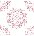 Seamless pattern with hand-drawn watercolor pink vector image vector image