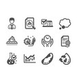 set business icons such as brazil nut recycle vector image vector image