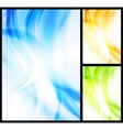 set of bright wavy backgrounds vector image vector image