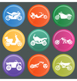 Set of nine icons of motorbikes vector image vector image