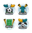 set of soccer emblems vector image vector image