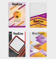 set of template flyer black with elements for vector image vector image