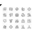 simple set teamwork line icons for website vector image