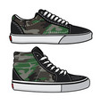 sneakers camo design vector image