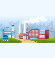 stock an industrial zone vector image vector image