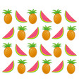 summer pattern with tropical fruits vector image