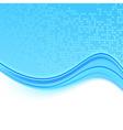 Transparent folder with a blue wave vector image vector image