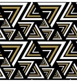 Triangle black white golden seamless pattern vector image vector image