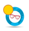 vacation around world sunny sunglasses vector image