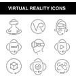 virtual reality icons set with an editable stroke vector image