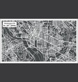 washington dc usa map in retro style vector image vector image