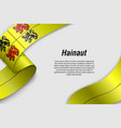 waving ribbon or banner with flag province vector image vector image