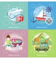 Wildlife Wellness Medical and Nautical Tourism vector image vector image
