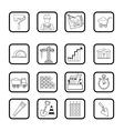 Outline web icon set Building construction vector image