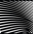 abstract warped black and white lines background vector image