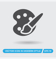art palette icon simple sign for web site and vector image