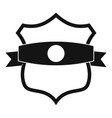 badge classic icon simple black style vector image