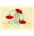 Banner with flover poppy vector image vector image