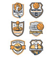 basketball sport game icons vector image vector image