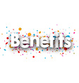 Benefits paper card vector image