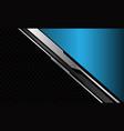 blue triangle silver grey circuit dark circle mesh vector image vector image