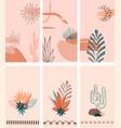boho social media stories layout set vector image vector image