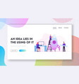 businesspeople launching business project startup vector image
