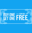 buy one get one off sign horizontal winter sale vector image vector image