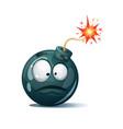 cartoon bomb fuse wick spark icon surprise vector image vector image