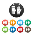 cleaning gloves icons set color vector image vector image