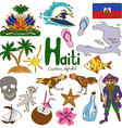 Collection of Haiti icons vector image vector image