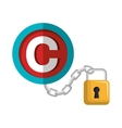 copy right seal isolated icon design vector image