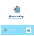 creative clipboard logo design flat color logo vector image vector image