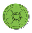 cucumber slices icon vector image