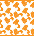cute seamless pattern with sleepy ginger cats vector image vector image