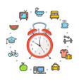 daily routines concept healthy life vector image vector image