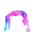 decorative colorful yoga pose vector image vector image