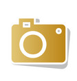 digital camera sign golden gradient icon vector image vector image