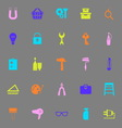 DIY color icons on gray background vector image vector image