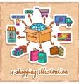 E-commerce design concept vector image vector image