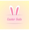 easter sale with ears in pocket vector image