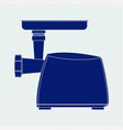 electric meat grinder blue icon vector image