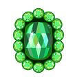 Emerald brooch vector image vector image