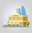 Flat design of colorful cityscape vector image vector image