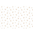 foliage with coffee seamless pattern white vector image