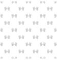 Golf gloves pattern cartoon style vector image vector image
