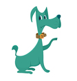 green dog cartoon vector image vector image