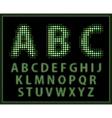 halftone alphabet full set vector image vector image