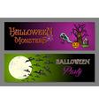 halloween happy party web banners set vector image vector image